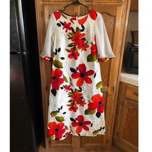 Kahili Fashions Hawaiian Festival Maxi Dress